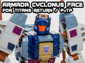 Armada Cyclonus Face (Titans Return) in Smooth Fine Detail Plastic