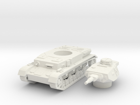 panzer IV F1 scale 1/87 in White Natural Versatile Plastic