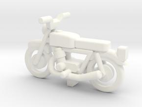 OO Gauge  Generic Motorbike in White Processed Versatile Plastic