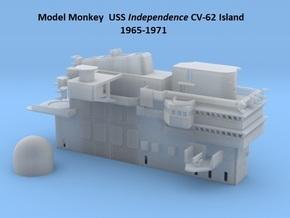 1/144 USS Independence CVA-61 Island 1965-1971 in White Natural Versatile Plastic
