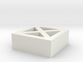 Roster Brick in White Natural Versatile Plastic