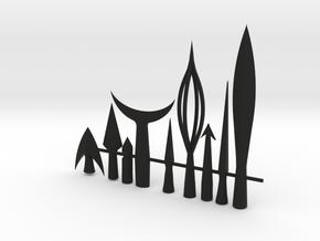 Medieval Arrow Heads - Bundle Special Sale in Black Natural Versatile Plastic
