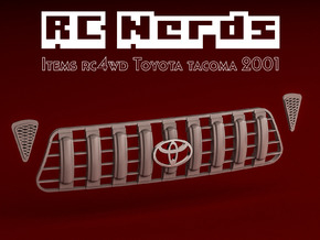 RCN120 Grille for Toyota Tacoma RC4WD in Smooth Fine Detail Plastic