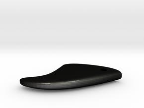 Fin-1-keychain in Matte Black Steel