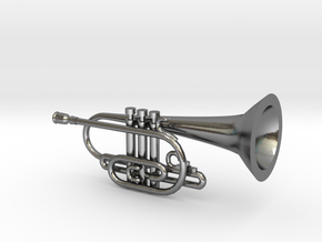 Jazz Cornet in Polished Silver