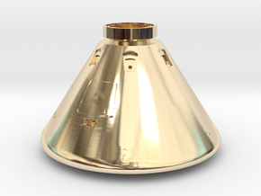 Orion Space Capsule in 14k Gold Plated Brass