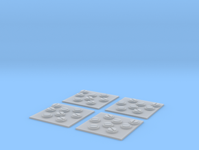 x4 Scatter Mine Tokens in Smoothest Fine Detail Plastic