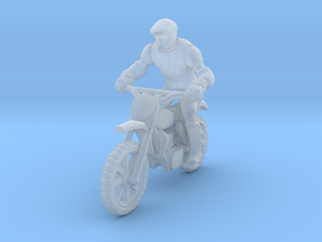 MX Bike Rider  1:87 HO   in Smooth Fine Detail Plastic