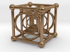 Nested Cubes in Natural Brass