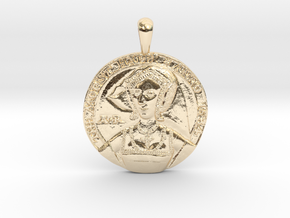 Anne Boleyn's 'Moost Happi' Portrait Pendant in 14K Yellow Gold