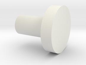 pommel tip in White Natural Versatile Plastic