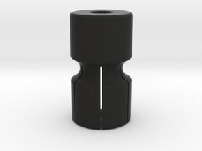 ExpandingBenchDogHex in Black Natural Versatile Plastic