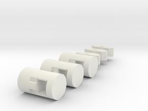 MiSTer XS Case v5.x XS ButtonsKit (Part 4/4) in White Natural Versatile Plastic