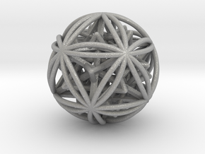 Icosasphere w/ Nested SuperStar  in Aluminum