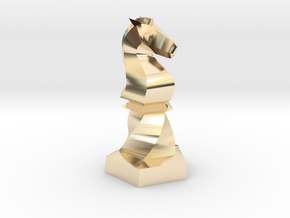 Geometric Chess Set Knight in 14k Gold Plated Brass