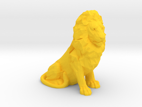 1/48 Sitting Lion for Diorama in Yellow Processed Versatile Plastic