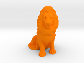 1/24 Male Lion Sitting Pose in Orange Processed Versatile Plastic