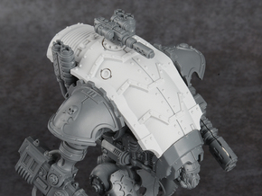 Mini Knight - Armadillo Carapace in Smooth Fine Detail Plastic
