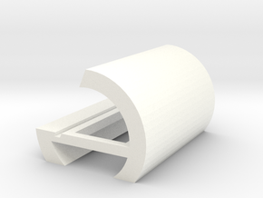 Business card holder in White Processed Versatile Plastic