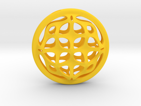 Ornamental porthole. Pendant in Yellow Processed Versatile Plastic