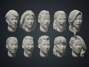 Warfaces2 - Mix Female in Smoothest Fine Detail Plastic: Medium