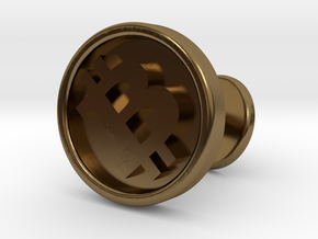 Bitcoin cufflink in Polished Bronze