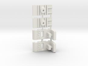 Mc Laren - Supports latéraux réglables in White Natural Versatile Plastic