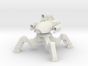 Desktop Sculpture War Robot Fujin w Taran in White Natural Versatile Plastic