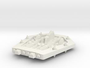 PH203 Phystyukor Heavy Cruiser in White Natural Versatile Plastic