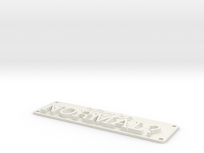 Why be Normal Plaque in White Natural Versatile Plastic