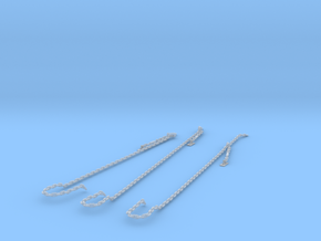 1/200 USS Arizona Anchor Chain SET in Smooth Fine Detail Plastic