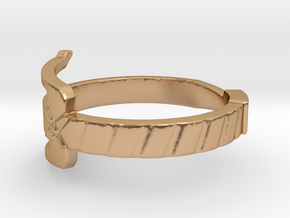 Sai Ring (Precious Metal) in Polished Bronze: 5 / 49