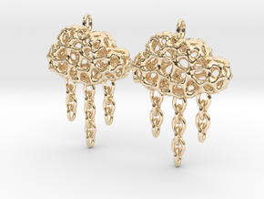Rainy Earrings in 14K Yellow Gold