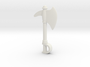 MOTU Inspired Custom Lego Axe in White Natural Versatile Plastic