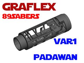 Graflex 89Sabers - Padawan Lightsaber Chassis in White Natural Versatile Plastic