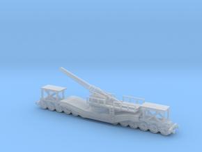 cannon de 240 1/100 railway artillery ww1  in Smooth Fine Detail Plastic