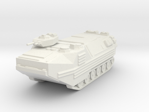 AAV-7 scale 1/100 in White Natural Versatile Plastic