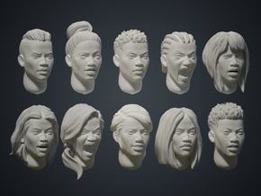 Warfaces2 - African Female in Smoothest Fine Detail Plastic