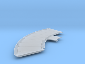 DeAgo Falcon Corridor - Starboard Floor - Extended in Smooth Fine Detail Plastic