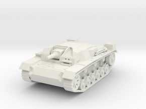 stug III a scale 1/100 in White Natural Versatile Plastic