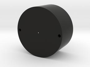Modular Chassis: 24mm SE Bass Speaker Holder: 0.99 in Black Natural Versatile Plastic