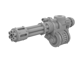 Mini Knight Rotary Gun (Left) in Smooth Fine Detail Plastic