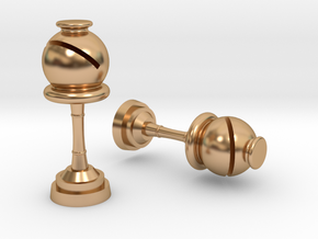 Bishop (Inception) Cufflinks in Polished Bronze