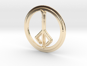 Hunter of Hunters Rune in 14k Gold Plated Brass