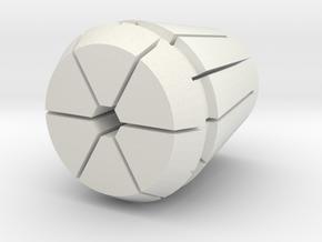 Collet-w-hex - Rev B _21875 in White Natural Versatile Plastic