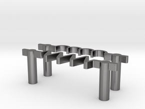 Resistor & Inductor US Drawer Pulls in Polished Nickel Steel