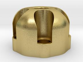 510 Thread Vape Cartridge Holder - Revolver Design in Natural Brass