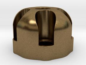 510 Thread Vape Cartridge Holder - Revolver Design in Natural Bronze