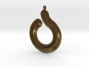 Circles & Scales Pendant #1 in 14K Yellow Gold