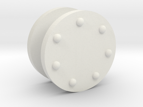 FR D1 & Cambrian SGC - Cylinder Covers in White Natural Versatile Plastic